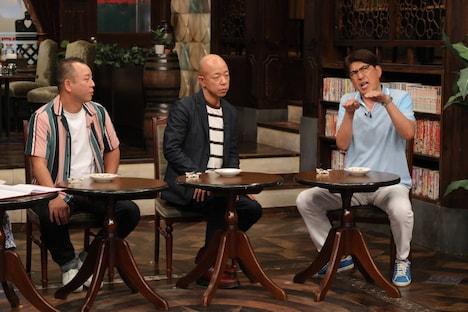 (左から)バイきんぐ、石橋貴明。(c)フジテレビ