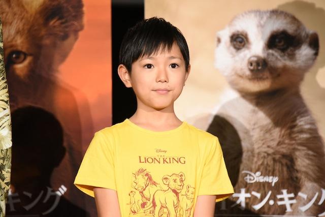 シンバの子供時代を演じた熊谷俊輝。