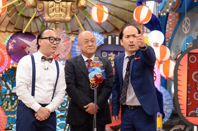 トレンディエンジェルと田山涼成(中央)。(c)ABCテレビ