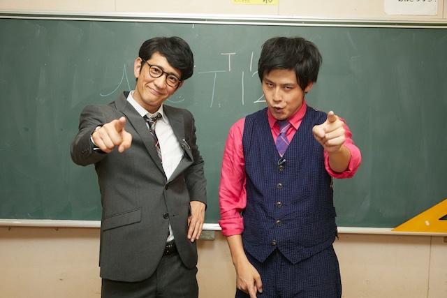 「NCT 127 おしえてJAPAN! Lesson2」に出演する(左から)アンタッチャブル柴田、オジンオズボーン篠宮。(c)エイベックス通信放送