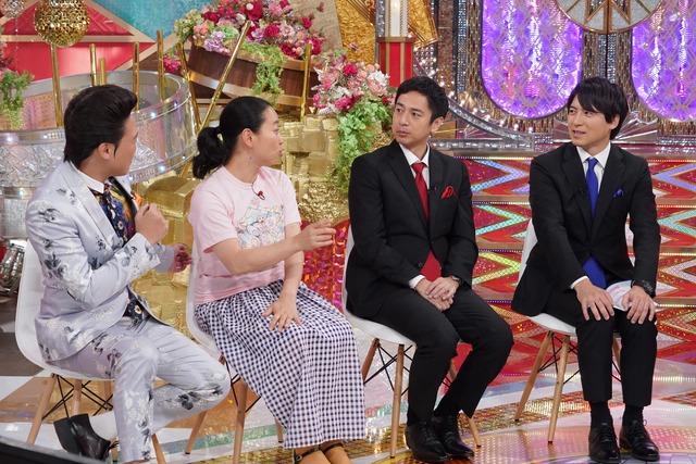 左からANZEN漫才みやぞん、いとうあさこ、チュートリアル徳井、桝太一アナウンサー。(c)日本テレビ