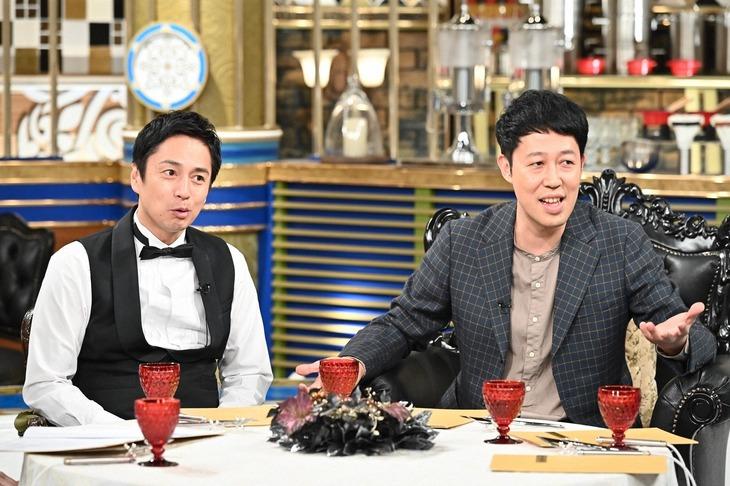 「人生最高レストラン」に出演する(左から)チュートリアル徳井、小籔千豊。(c)TBS