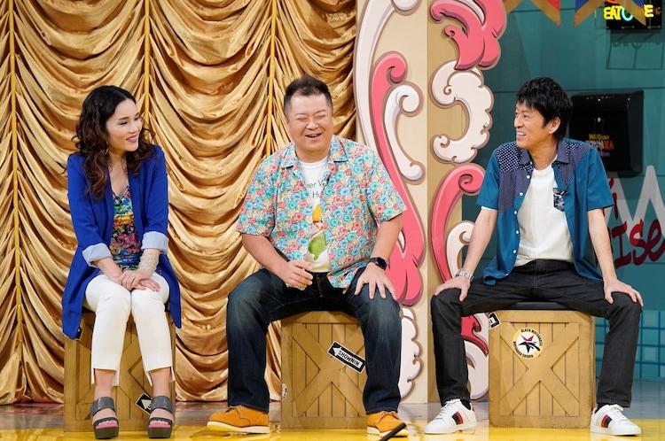 左から平野ノラ、ブラックマヨネーズ。(c)読売テレビ