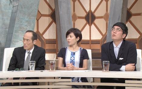 (左から)東国原英夫、三田寛子、おぎやはぎ小木。(c)テレビ朝日