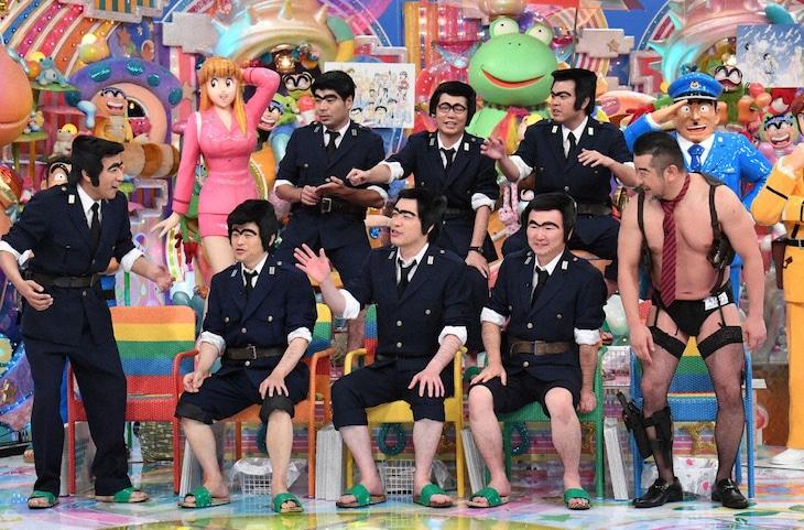 「アメトーーク!」に集結する「こち亀芸人」たち。(c)テレビ朝日
