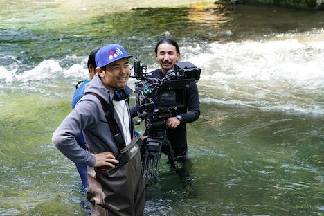 品川ヒロシ監督「リスタート」撮影中の様子。