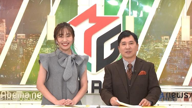 「熱闘!Mリーグ」に出演する(左から)須田亜香里、爆笑問題・田中。(c)テレビ朝日