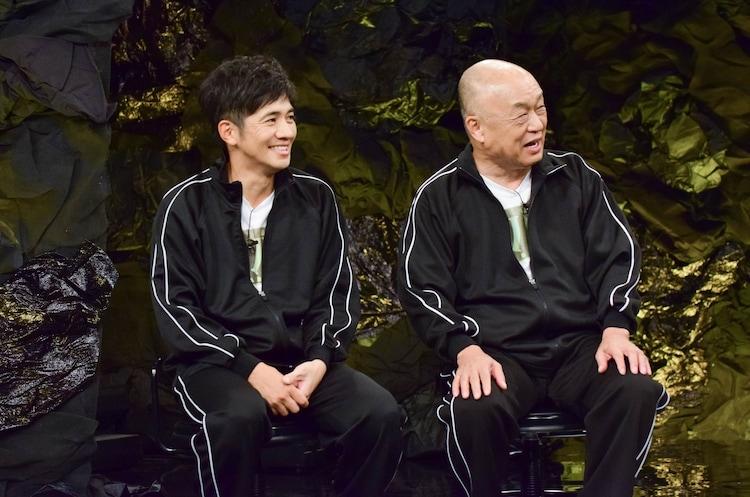 和田正人(左)と田山涼成(右)。