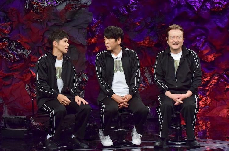左から和田正人、長谷川朝晴、大和田伸也。