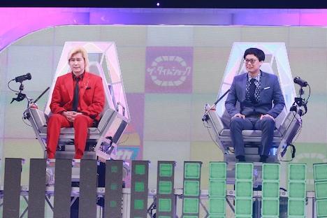 (左から)メイプル超合金カズレーザー、GAG宮戸。(c)テレビ朝日