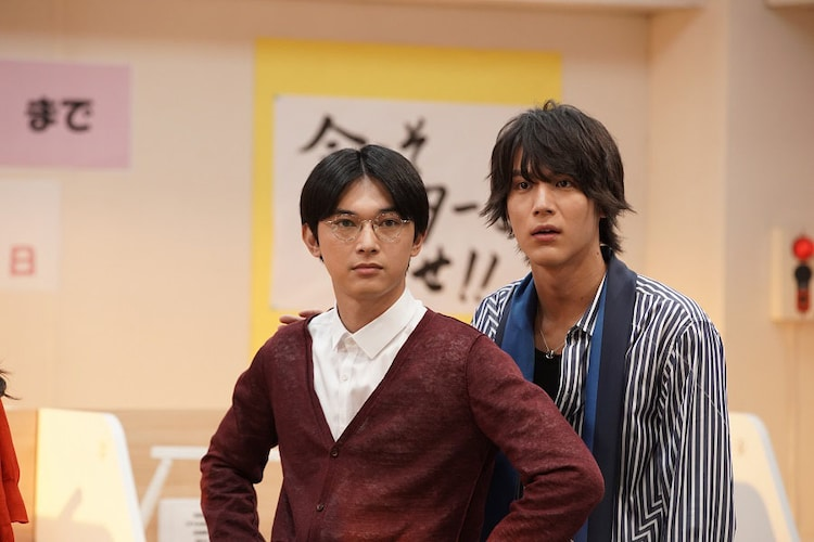 コント「ぼくら夢見る予備校生」に出演する吉沢亮と中川大志。(c)NHK