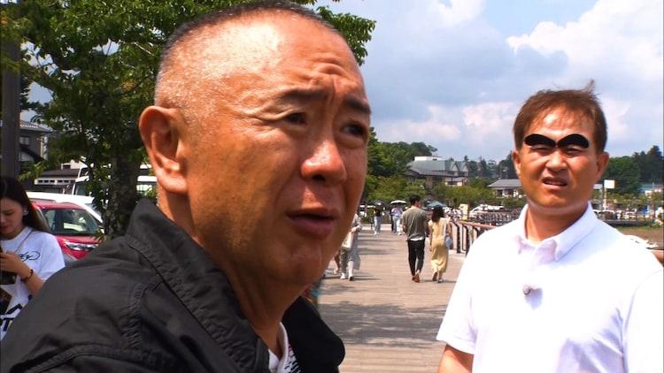 (左から)松村邦洋、神奈月。(c)ABCテレビ