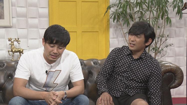 くりぃむしちゅー有田にネタをプロデュースされるアルコ&ピース。(c)NHK