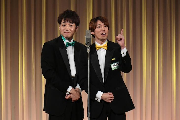 「M-1グランプリ2019」2回戦を突破したコンビ・つ~ゆ~の(左から)福田悠太、辰巳雄大。(c)M-1グランプリ事務局