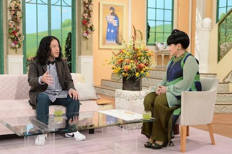 (左から)ピース又吉、黒柳徹子。(c)テレビ朝日