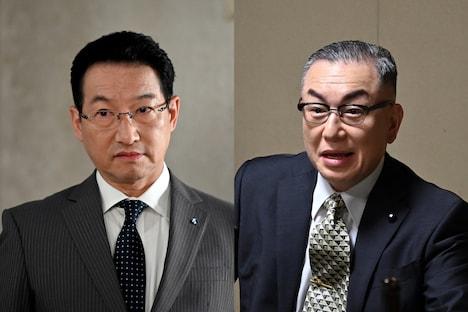 (左から)春風亭昇太、岩下尚史。(c)TBS