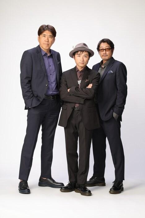 B Pressure。左から、Taka(石橋貴明)、Kan(神波憲人)、Teru(平山晃哉)。