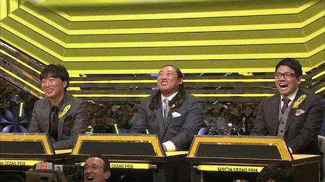 「IPPONグランプリ」19回大会に出場した(左から)スピードワゴン小沢、ロバート秋山、ミキ昴生。