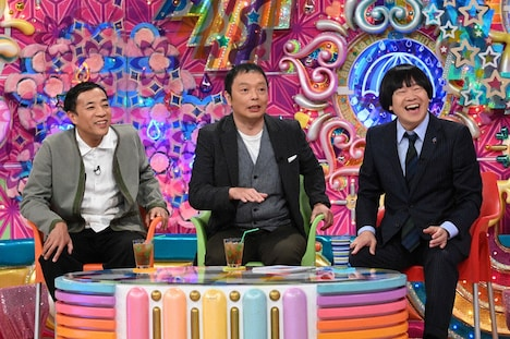 (左から)ナイツ塙、中川家・礼二、蛍原徹。(c)テレビ朝日