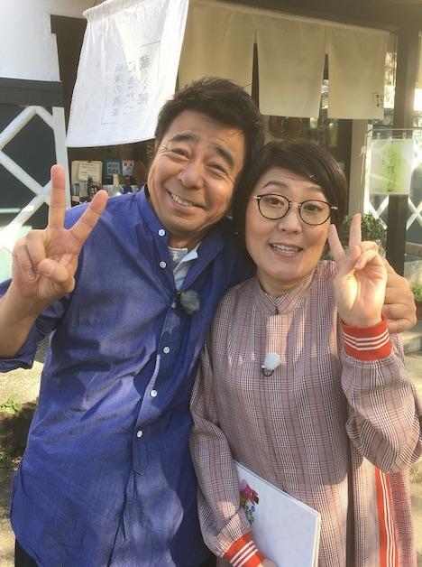 左からよゐこ有野、光浦靖子。(c)読売テレビ