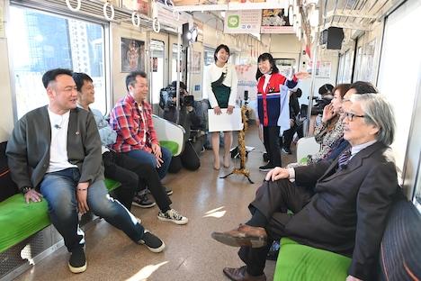 「秋だ!京都だ!鉄道だ!京阪ミステリーツアーSP」のワンシーン。(c)ABCテレビ