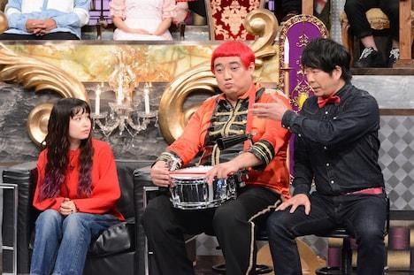左からトミタ栞、デッカチャン、TOKYO COOL・カンカン。(c)日本テレビ