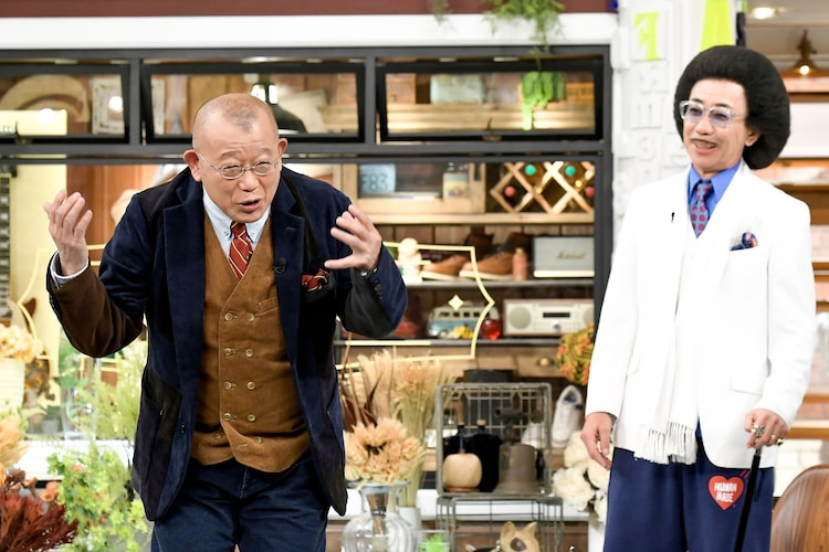 笑福亭鶴瓶と木梨憲武。(c)TBS