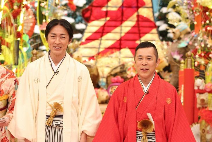 「第53回新春!爆笑ヒットパレード2020」MCのナインティナイン。写真は昨年放送時のもの。(c)フジテレビ