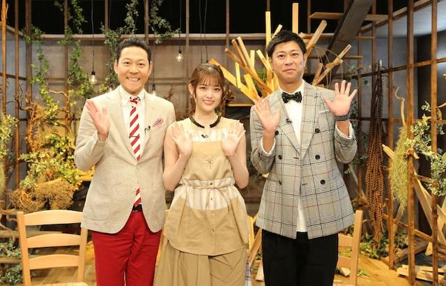 左から東野幸治、ゲストの松村沙友理、パンサー尾形。