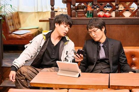 (左から)大東駿介、千原ジュニア。(c)関西テレビ