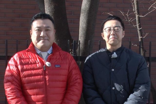 「矢作と山崎とイケメンパラダイス」に出演する(左から)アンタッチャブル山崎、おぎやはぎ矢作。(c)フジテレビ