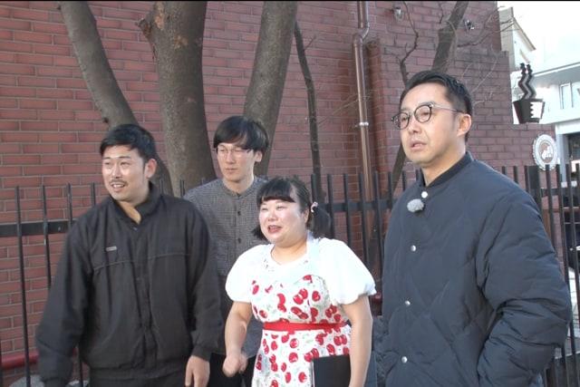 (左から)岡野陽一、ザ・マミィ林田、ゆめちゃん、おぎやはぎ矢作。(c)フジテレビ