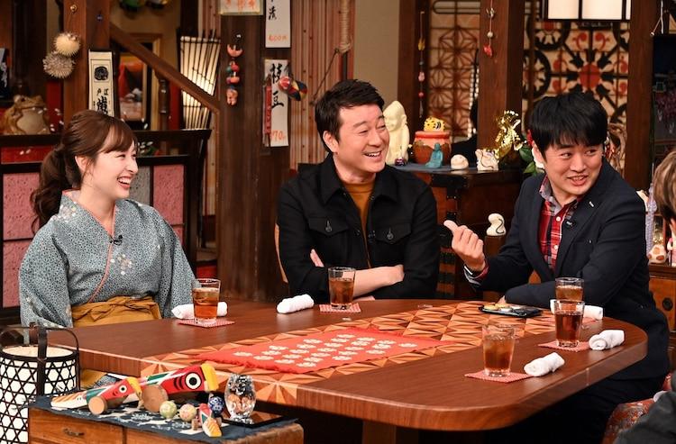 (左から)宇賀神メグ(TBSアナウンサー)、加藤浩次、劇団ひとり。c)TBS