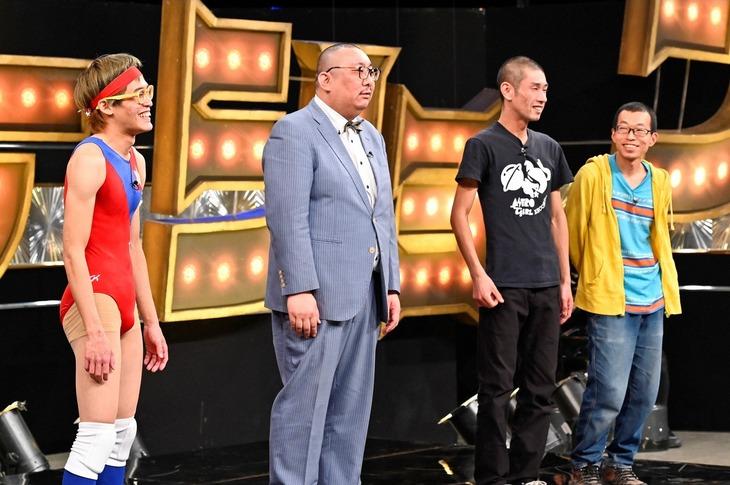 「有田ジェネレーション」に出演する(左から)ムラムラタムラ、街裏ぴんく、ガロイン。(c)TBS