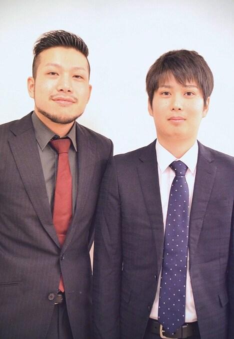 赤もみじ。左から、村田大樹、阪田ベーカリー。