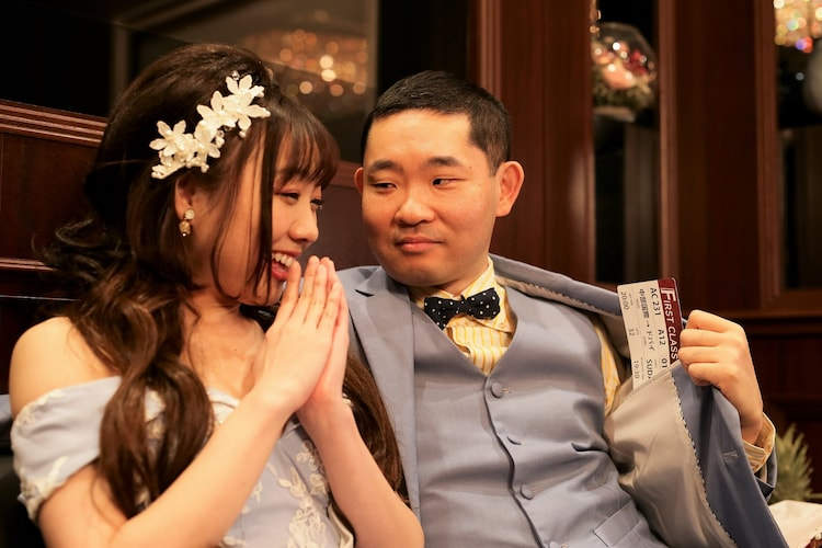 「名古屋行き最終列車2020」より。左から須田亜香里、今野浩喜。(c)メ~テレ