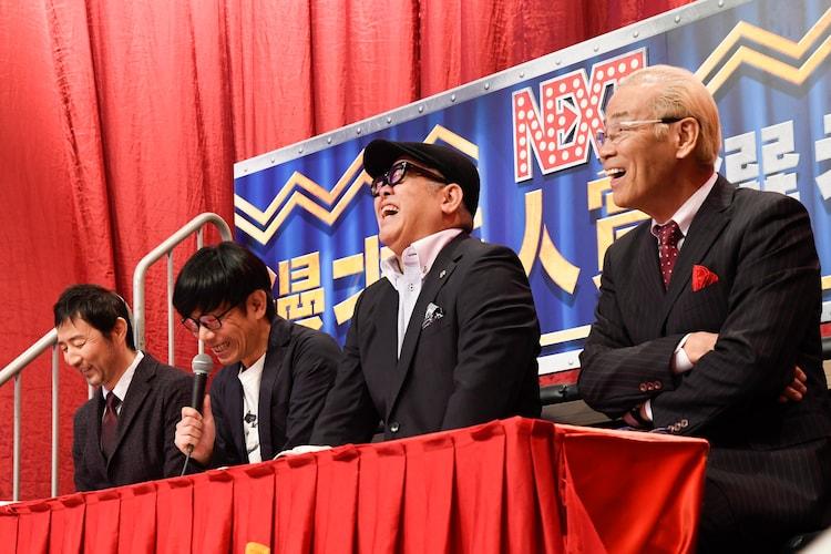 左からお~い!久馬、バッファロー吾郎・竹若、兵動大樹、オール巨人。(c)読売テレビ