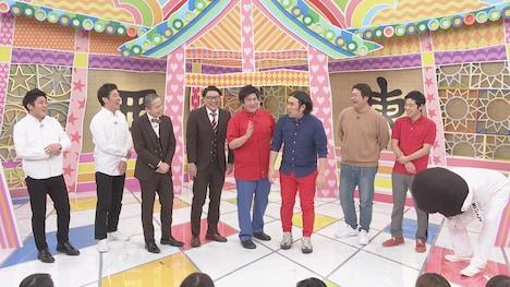 (左から)うるとらブギーズ、ゾフィー、ビスケットブラザーズ、わらふぢなるお。(c)中京テレビ