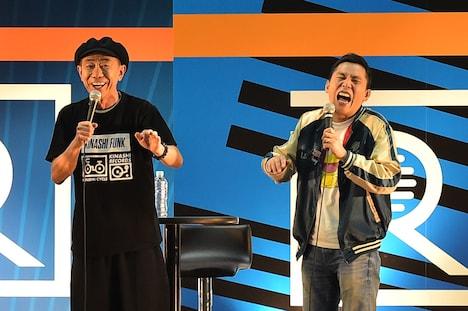 (左から)木梨憲武、爆笑問題・太田。(c)TBSラジオ