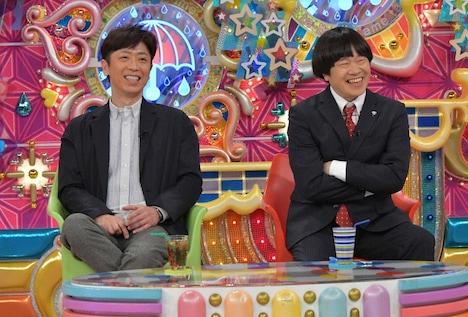 (左から)フットボールアワー後藤、蛍原徹。(c)テレビ朝日