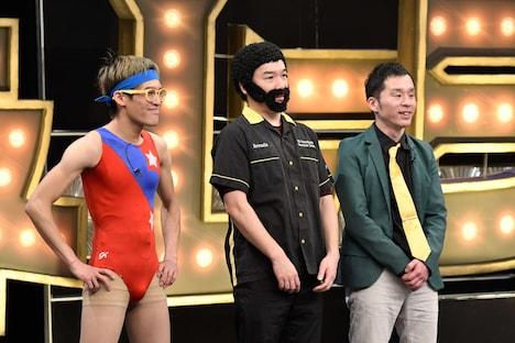 (左から)ムラムラタムラ、桐野安生、スルメ。(c)TBS