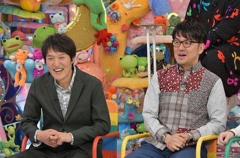 (左から)千原ジュニア、土田晃之。(c)テレビ朝日