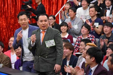 「痛快!明石家電視台」2月24日放送回に出演するミルクボーイ。(c)MBS