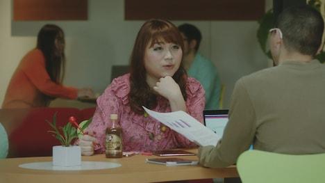 新CM「新しい風・ブレンド」編のワンシーン。