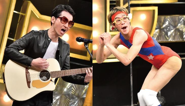「有田ジェネレーション」に出演するSAKURAI(左)とムラムラタムラ(右)。(c)TBS