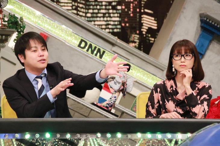 「全力!脱力タイムズ」に出演する(左から)NON STYLE井上、新妻聖子。(c)フジテレビ