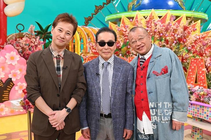 左から中居正広、タモリ、笑福亭鶴瓶。(c)日本テレビ