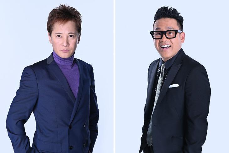 「中居大輔と夜な夜な(4747)ラブ子さん」MCの(左から)中居正広、宮川大輔。(c)TBS