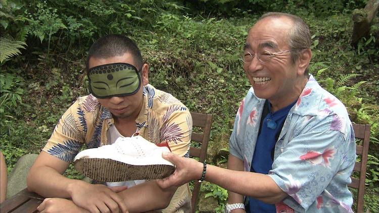 「志村けん聞録」に出演した(左から)千鳥・大悟と志村けん。(c)テレビ朝日