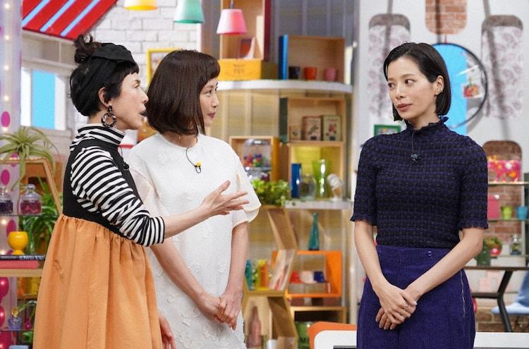 左から久本雅美、山口もえ、桜井ユキ。(c)日本テレビ